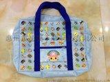 惠州手袋厂专业定制可折叠收纳旅行袋 可以印LOGO