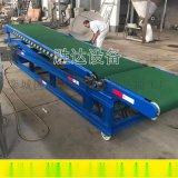 阜陽合肥整箱蔬菜裝車輸送機勝達皮帶爬坡輸送機廠家