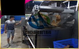 大虾挂浆机 专业指导全自动大虾裹粉机 大虾油炸机
