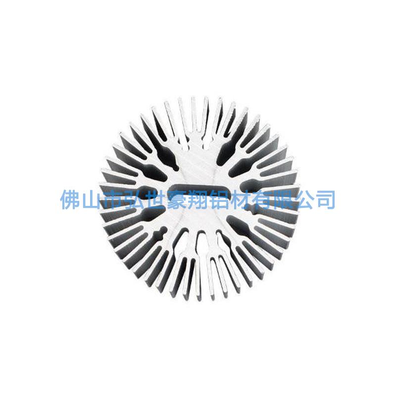 定製高密齒太陽花散熱器 6063鋁型材散熱器