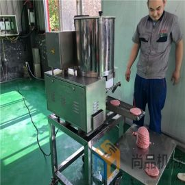 厂家直销鸡肉饼成型机@全自动蔬菜饼生产线