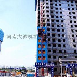 供应建筑工程施工升降机 单柱双笼施工电梯