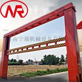 廠家定制可升降限高架 道路限高杆 液壓升降限高架