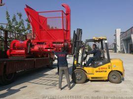 悬挂式青贮饲料畜牧机械   省时切碎回收机
