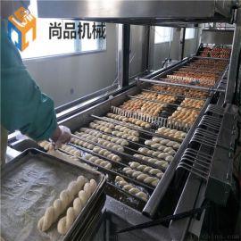 全自动软麻花油炸机生产线 厂家定制软麻花油炸机器