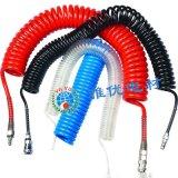 定制PU弹簧管 螺旋可伸缩气管6*4-3米 长度可定做 优质原料 减少管路摩擦