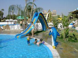 厂家直销大型水上游乐设备 儿童彩虹双滑道滑梯