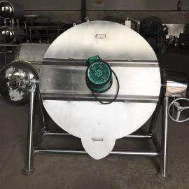 馅料炒锅夹层锅 自动搅拌夹层锅