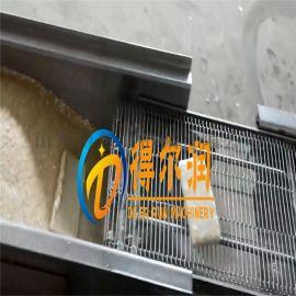 天津(专业)芝士虾派裹糠机设备 芝士虾排上屑油炸机