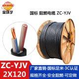 金环宇电缆 国标 阻燃yjv电缆ZC-YJV 2X120平方 铜芯 yjv线缆报价
