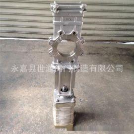 SCZ气动不锈钢插板阀 DN150 穿透式插板阀