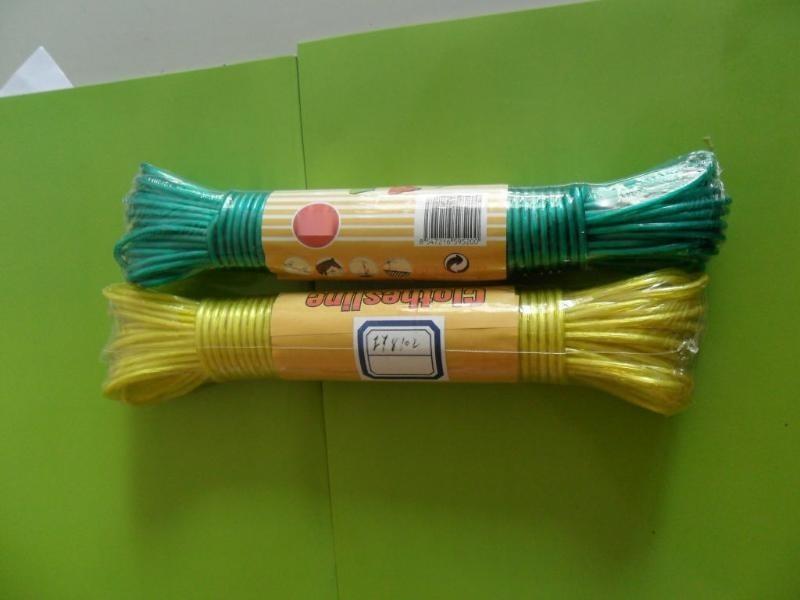 廠價直銷 PVC包塑晾衣繩  內綸內芯PVC晾衣繩
