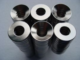 钕铁硼磁铁,打孔永磁磁铁