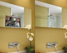 洗脸盆防水镜子电视