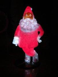 圣诞节发光圣诞树圣诞老人,雕塑树脂玻璃钢工艺品供应