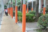 東莞南城陽光第六小學橙色方柱鋼構軟體柱墊系列