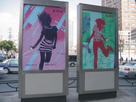 全国各地城市乡镇街道换画广告滚动灯箱制作厂家