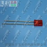 【厂家直销】2x5x7mm红发红普亮短脚 led(发光二极管)led灯珠