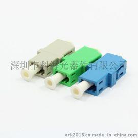 供应LC光纤适配器 单模光纤耦合器 单芯光纤法兰盘