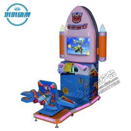 2016新款儿童激光赛车游戏机低空飞行大型室内投币游艺电玩设备机