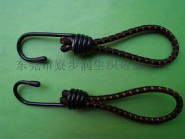 润生5.5mm*20cm单钩包进口胶丝强力行李绳\捆绑绳\绑带\挂钩绳\固定绳