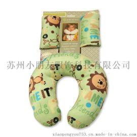 热销款儿童u型枕 宝宝慢回弹护颈枕 记忆棉婴幼儿防侧翻枕头
