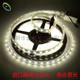 新款 LED5050贴片双色温防水灯条 外贸出口欧美可调色温灯带 高亮