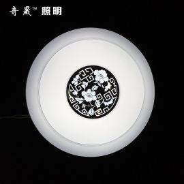 厂家直销 350镜面贴花 led灯 吸顶灯 圆形客厅卧室工程灯具批发