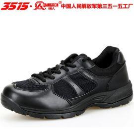 3515强人**配发新款07a式作训鞋耐磨黑色消防跑步鞋登山训练鞋