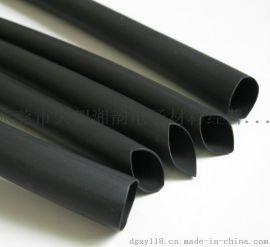 黑色带胶热缩管,黑色双壁热缩套管,黑色防水热缩套管