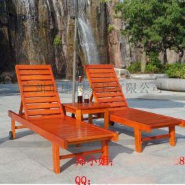 木制沙滩椅批发 实木沙滩椅采购 沙滩躺椅价格