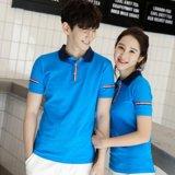 夏装新款韩版高中男女学生情侣装短袖翻领T恤衫班服可定制LOGO