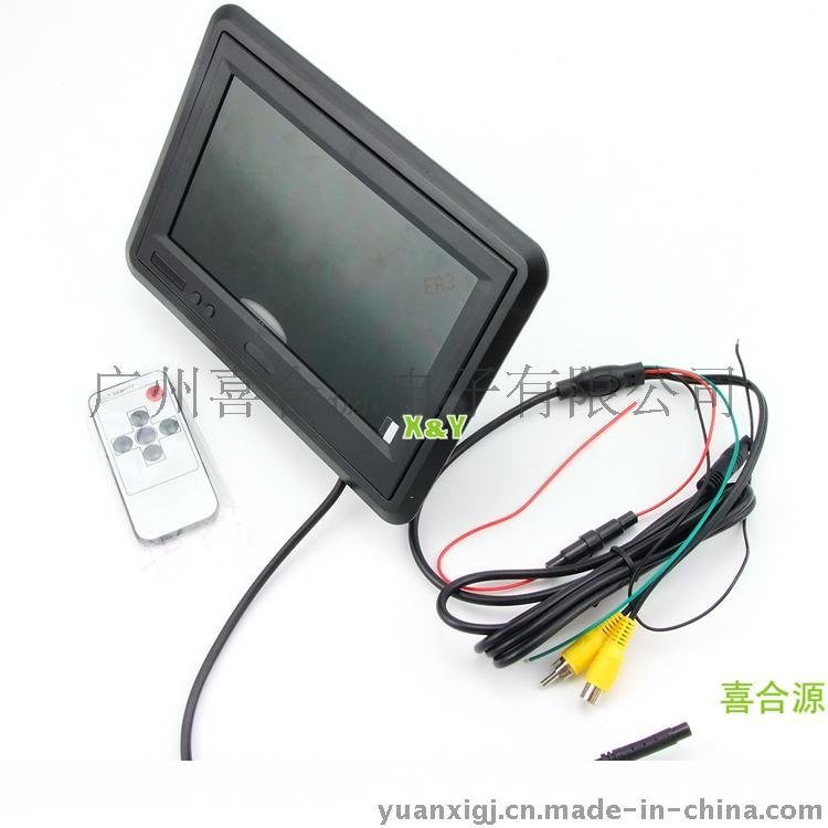 批發7寸車載臺式顯示器高清800*480 24V顯示器 車載液晶顯示器