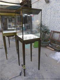 定做古铜系列珠宝展示柜 供应**卡地亚珠宝展柜高柜 不锈钢金属珠宝展柜设计