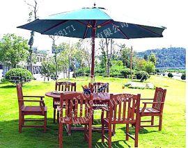 铁艺白色特斯林户外休闲室外花园阳台庭院露天桌椅家具组合太阳伞