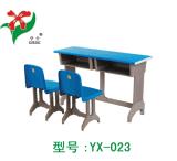热销双人课桌椅、学生课桌椅、双人塑钢课桌椅