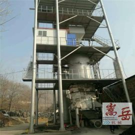 海南1500*15000烘干机煤气发生炉现场 煤气发生炉工作原理 双段煤气发生炉