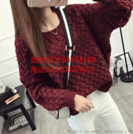 最便宜服裝去哪批發廠家清倉大量庫存羊毛衫整單女士毛衣批發