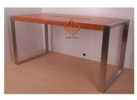 东莞厂家直销手机体验桌不锈钢木纹实木展示柜