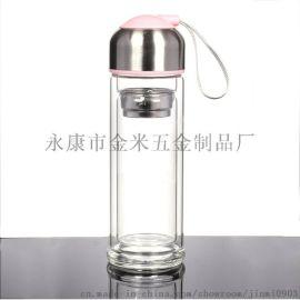 双层透明玻璃杯隔热防烫定制logo