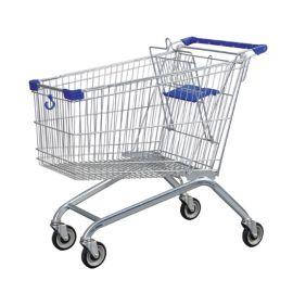 凌晔美式超市手推购物车带凳超市购物手推车理货车