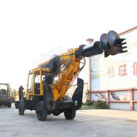 轮式旋挖钻机 15米旋挖打桩机 地基打桩机