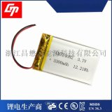 聚合物锂电池 734082 3.7V 3300mAh 血糖测试仪   医疗设备