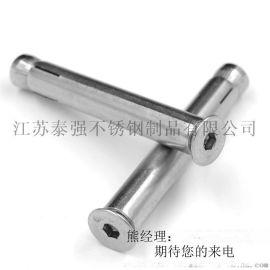 不锈钢沉头内六角膨胀螺栓 304沉头内六角膨胀螺丝