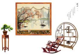 竹卷帘(绘画图)