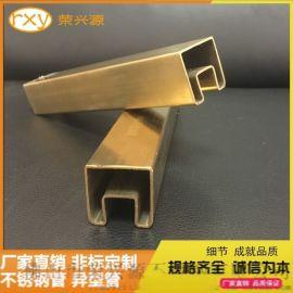 佛山不锈钢市场现货304不锈钢凹槽方管