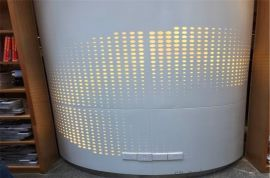 艺术镂空造型包柱铝单板 圆柱荧光铝单板