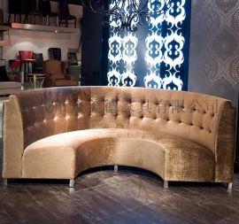 酒店KTV卡座沙发订做弧形沙发价钱欧式拉扣沙发厂家