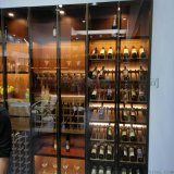 定制会所钛金酒柜不锈钢客厅红酒柜