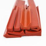 供应V型硅胶密封条耐高温砖红色硅胶托块